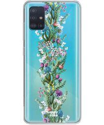 HappyCase Samsung Galaxy A51 Hoesje Flexibel TPU Floral Print
