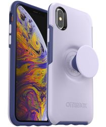 Otter + Pop Symmetry Series Apple iPhone X/XS Hoesje Paars