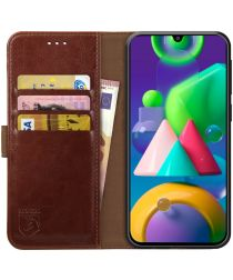 Rosso Element Samsung Galaxy M21 Hoesje Book Cover Bruin