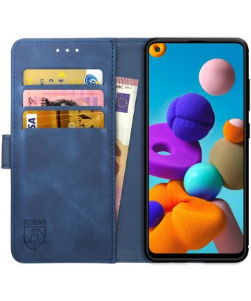 Rosso Element Samsung Galaxy A21S Hoesje Book Cover Blauw