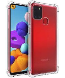 Samsung Galaxy A21S Hoesje Schokbestendig Transparant