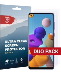 Rosso Samsung Galaxy A21S Ultra Clear Screen Protector Duo Pack