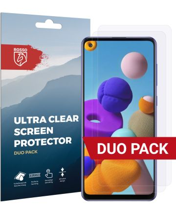 Rosso Samsung Galaxy A21S Ultra Clear Screen Protector Duo Pack Screen Protectors