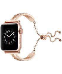Apple Watch 40MM / 38MM Bandje Luxe en Sierlijk Metalen Armband Roze