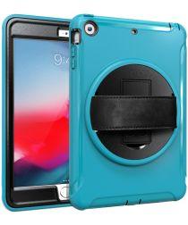 Apple iPad Mini 3 / 2 / 1 Hybride Kickstand Hoesje met Handriem Blauw