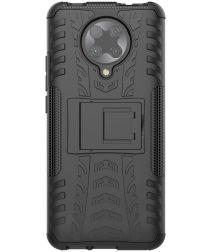 Xiaomi Poco F2 Pro Robuust Hybride Hoesje Zwart