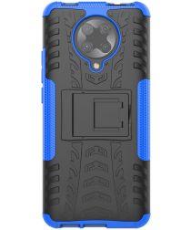 Xiaomi Poco F2 Pro Robuust Hybride Hoesje Blauw
