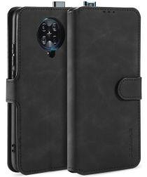 Xiaomi Poco F2 Pro Retro Portemonnee Hoesje Zwart