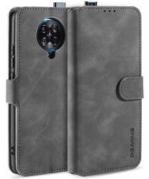 Xiaomi Poco F2 Pro Retro Portemonnee Hoesje Grijs