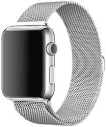 Apple Watch 44MM / 42MM Bandje Milanese Staal Magneetsluiting Zilver