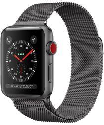 Apple Watch 44MM / 42MM Bandje Milanese Staal Magneetsluiting Grijs
