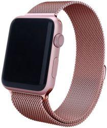 Apple Watch 44MM / 42MM Bandje Milanese Staal Magneetsluiting Roze