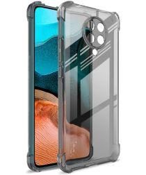 IMAK Xiaomi Poco F2 Pro Hoesje met Screenprotector Transparant Zwart