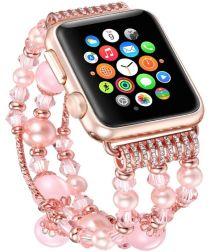 Apple Watch 40MM / 38MM Bandje Kralen en Parel Armband Roze