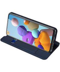 Dux Ducis Skin Pro Series Samsung Galaxy A21s Hoesje Portemonnee Blauw