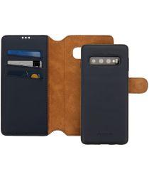 Minim 2-in-1 Samsung Galaxy S10 Hoesje Book Case en Back Cover Blauw