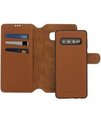 Minim 2-in-1 Samsung Galaxy S10 Hoesje Book Case en Back Coverr Bruin