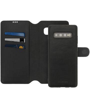 Minim 2-in-1 Samsung S10+ Hoesje Book Case en Back Cover Zwart Hoesjes