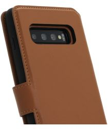 Minim 2-in-1 Samsung Galaxy S10+ Hoesje Book Case en Back Cover Bruin