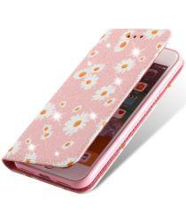 Apple iPhone 7 / 8 /SE 2020 Hoesje Portemonnee Hoesje Bloemen Roze