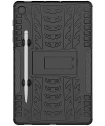 Samsung Galaxy S6 Lite Hybride Kickstand Hoes Zwart