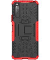 Sony Xperia II Hybride Hoesje met Kickstand Rood