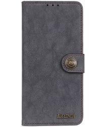 Sony Xperia L4 Book Case Hoesje Portemonnee Retro Splitleer Zwart