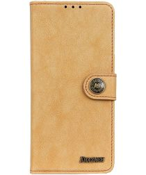 Sony Xperia L4 Book Case Hoesje Portemonnee Retro Splitleer Geel