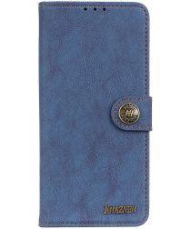 Sony Xperia L4 Book Case Hoesje Portemonnee Retro Splitleer Blauw
