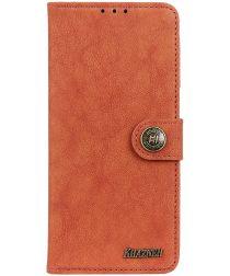 Sony Xperia L4 Book Case Hoesje Portemonnee Retro Splitleer Oranje