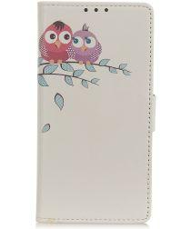Huawei P Smart 2020 Hoesje Portemonnee met Print Uilen