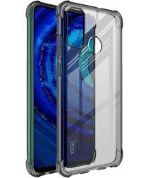 Huawei P Smart 2020 Hoesje TPU met Screenprotector Grijs