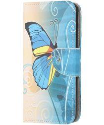 Huawei Y5p Book Case Hoesje Wallet met Print Vlinder