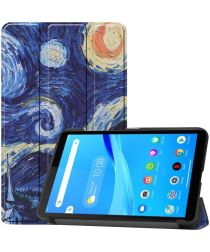 Lenovo Tab M7 Hoesje Portemonnee met Starry Night Print
