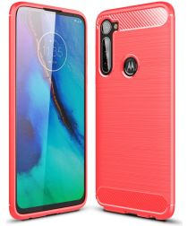 Motorola Moto G Pro Geborsteld TPU Hoesje Rood
