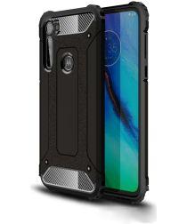 Motorola Moto G Pro Hoesje Shock Proof Hybride Back Cover Zwart
