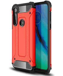 Motorola Moto G Pro Hoesje Shock Proof Hybride Back Cover Rood