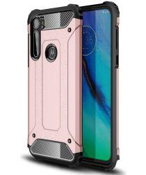 Motorola Moto G Pro Hoesje Shock Proof Hybride Back Cover Roze Goud