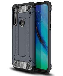 Motorola Moto G Pro Hoesje Shock Proof Hybride Back Cover Blauw