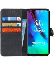 Motorola Moto G Pro Book Case Hoesje Portemonnee Zwart
