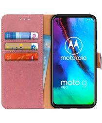 Motorola Moto G Pro Book Case Hoesje Portemonnee Roze