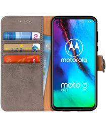 Motorola Moto G Pro Book Case Hoesje Portemonnee Grijs