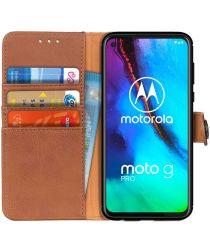 Motorola Moto G Pro Book Case Hoesje Portemonnee Bruin