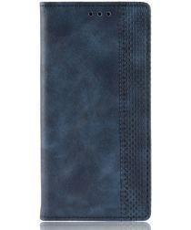 Motorola Moto G Pro Hoesje Stijlvol Vintage Portemonnee Blauw