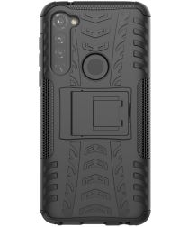 Motorola Moto G Pro Robuust Hybride Hoesje Zwart