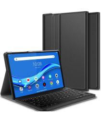 Lenovo Tab M10 Plus Hoesje met Verstelbaar Toetsenbord Zwart
