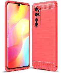 Xiaomi Mi Note 10 Lite Geborsteld TPU Hoesje Rood