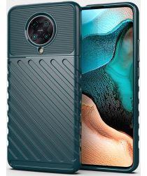 Xiaomi Poco F2 Pro Twill Thunder Texture Back Cover Groen