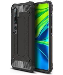 Xiaomi Mi Note 10 Lite Hoesje Shock Proof Hybride Back Cover Zwart