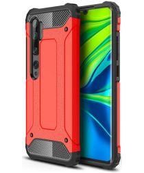 Xiaomi Mi Note 10 Lite Hoesje Shock Proof Hybride Back Cover Rood